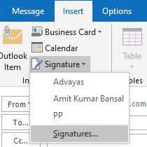 How to add email link in outlook signature