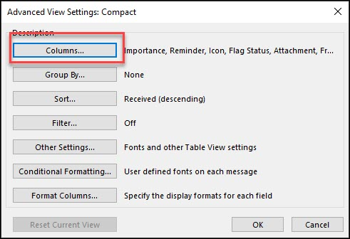 advance view setting compact