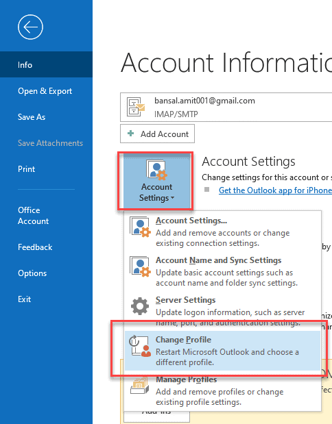 outlook not recieving email