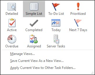How to view task in Outlook