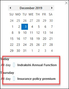 outlook with calendar and tasks