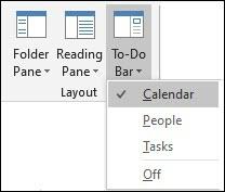 todo bar calendar outlook