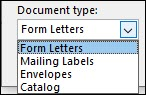 merge option document type