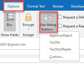 create a poll in outlook