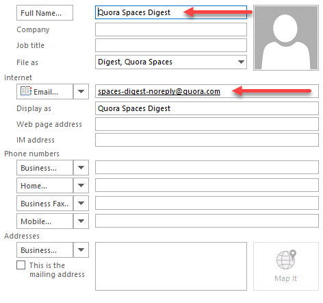 Add Recipients to the Address Book