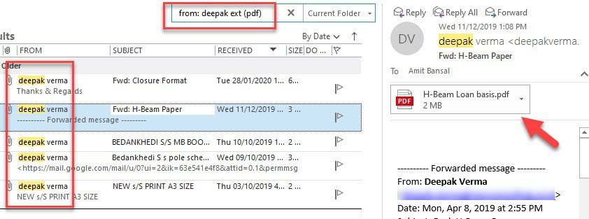 Quick Tips to Search for Email Attachments with Specific File Types in Outlook