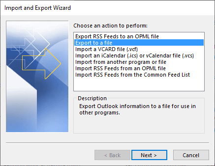 export contacts to csv