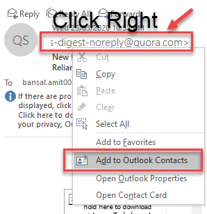 how to add contacts on outlook