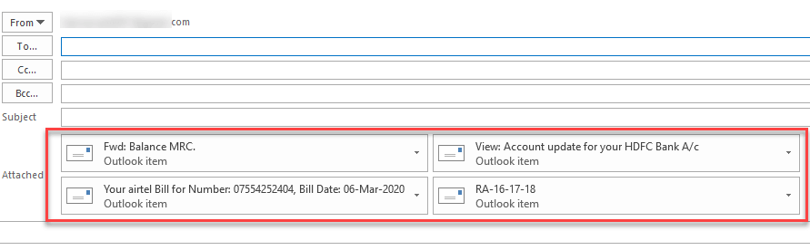 how to attach an email to another email in outlook
