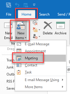 How to schedule a meeting from an email