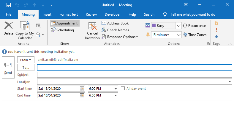 accept meeting request outlook