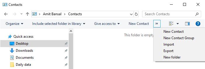 convert contact file to csv