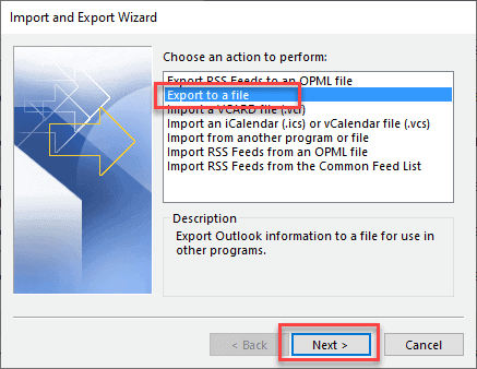 how to export outlook calendar