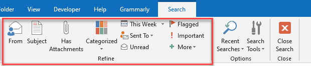 How To Refine Search In Outlook