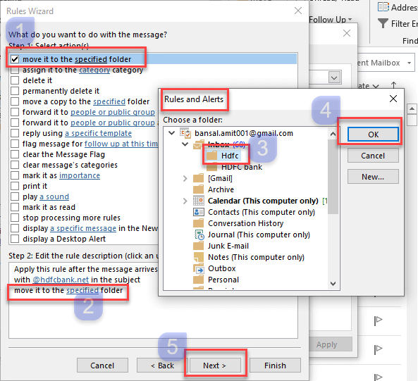 outlook filters