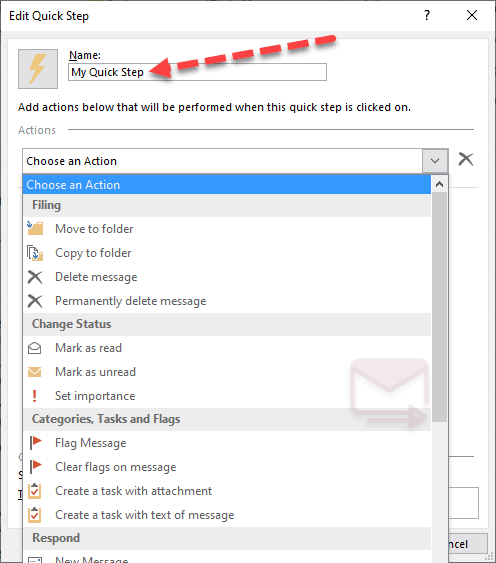 How to Create a Quick Step in Outlook