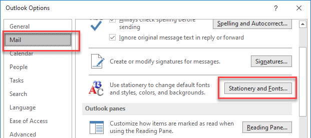 How to adjust Font Size in Outlook