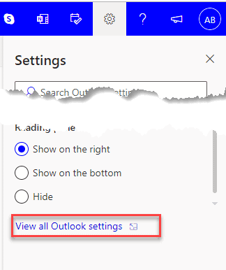view all outlook setting time zone