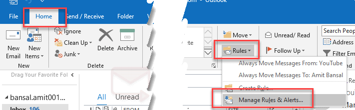 How outlook keep a copy of forwarded messages