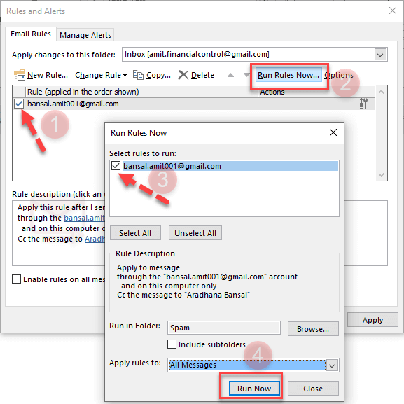 How to auto bcc myself in Outlook