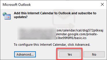 adding google calendar to outlook