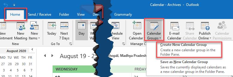 group calendar outlook