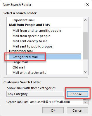 how to organize emails with color categories in outlook