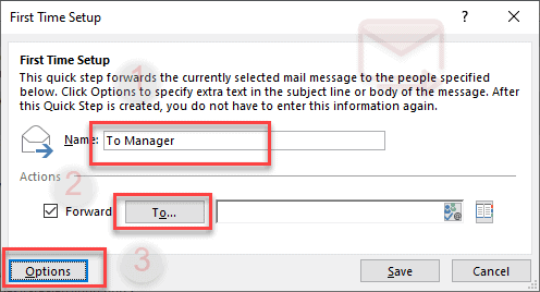 outlook quick steps 2019