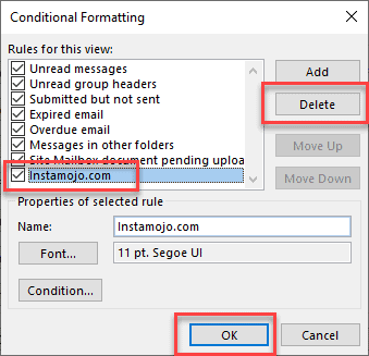 How to Delete Conditional Formatting Rule