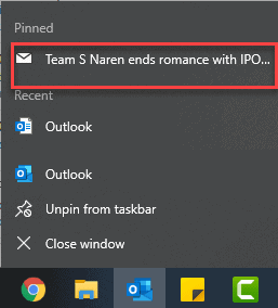 How to pin an email in Outlook