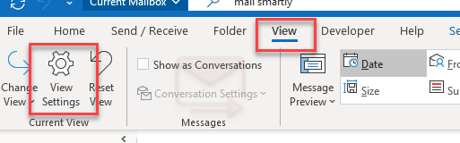 use color to identify incoming Outlook messages