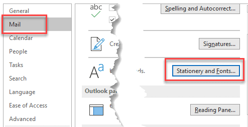 Change the Default Font and Size