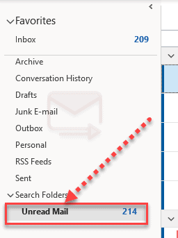 How To Add Unread Mails To Favorite Folder In Outlook