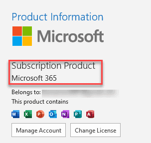 Outlook Product Information