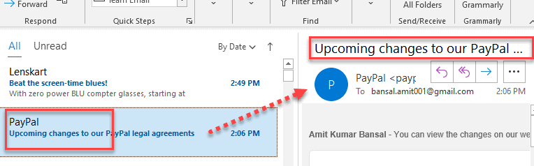 edit the subject line in Outlook 365