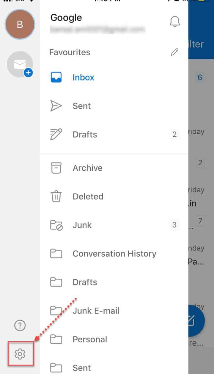 iOS outlook on my iPhone