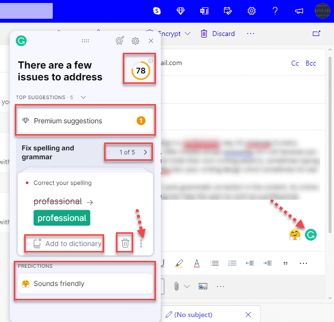 Grammarly For Webmail Outlook