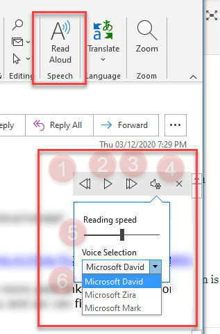 How to make Outlook read aloud