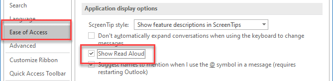 Read aloud not available