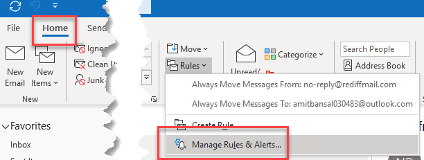 Turn Off Customize Outlook Notification