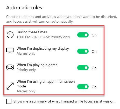 automatic rule window 10
