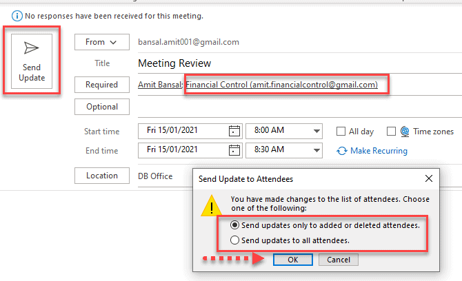How To Add Attendees to Outlook Meeting Already Scheduled