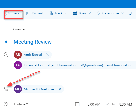 How To Add Optional Attendees in Outlook Web