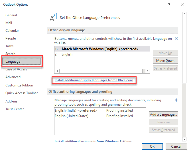 How To Change The Default Language In Outlook-min