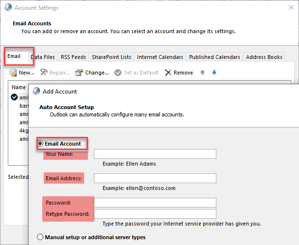 new email account outlook