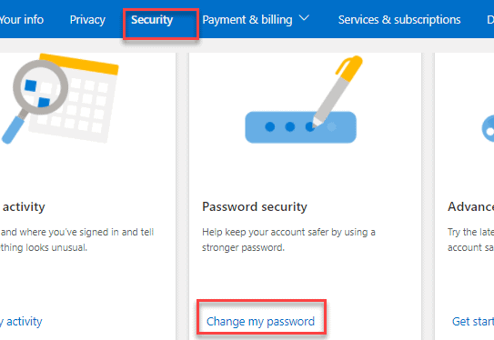 How To Change Outlook.com password