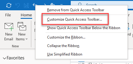 How to change the order of Quick Access Toolbar