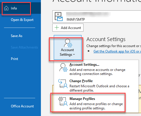 How to reset Outlook Password