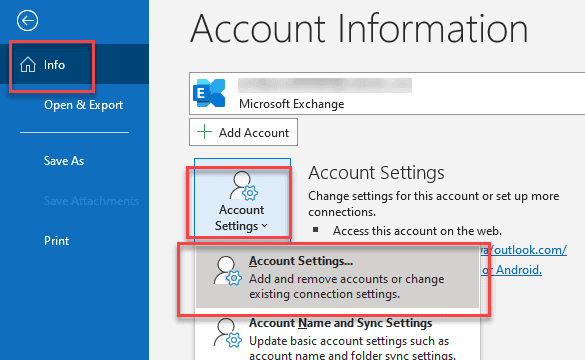 account setting delete account