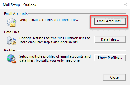 mail setup outlook